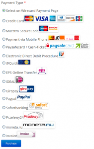 Wirecard checkout methods